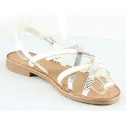 Sandały damskie: Sandały w kolorze biało-srebrnym