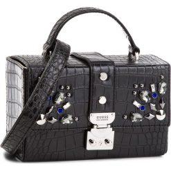Torebka GUESS - HWCR66 93150  BLA. Czarne torebki klasyczne damskie Guess, z aplikacjami, ze skóry ekologicznej. Za 519,00 zł.