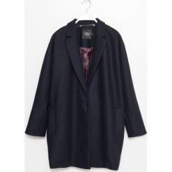Płaszcz. Niebieskie płaszcze na zamek męskie Simple, na jesień, m, klasyczne. Za 499,90 zł.