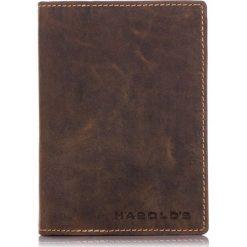 DUŻY SKÓRZANY PORTFEL MĘSKI HAROLD`S ORGANIZER. Brązowe portfele męskie Harold's, z materiału. Za 89,00 zł.