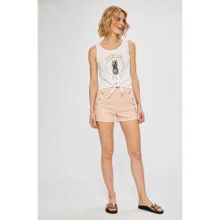 Morgan - Szorty. Szare szorty damskie marki Morgan, z bawełny, casualowe, z podwyższonym stanem. W wyprzedaży za 149,90 zł.