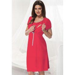 Malinowa koszula nocna dla ciężarnych i karmiących Dorota. Różowe bielizna ciążowa marki Astratex, z bawełny, moda ciążowa. Za 91,99 zł.