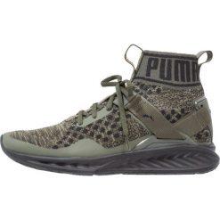 Puma IGNITE EVOKNIT Obuwie do biegania treningowe burnt olive/forest night/black. Zielone buty do biegania damskie marki Puma, z materiału. W wyprzedaży za 356,85 zł.