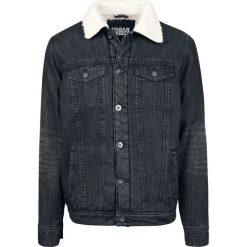 Kurtki męskie bomber: Urban Classics Sherpa Denim Jacket Kurtka jeansowa czarny