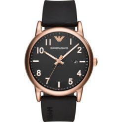 Emporio Armani Zegarek schwarz. Czarne zegarki męskie marki Emporio Armani. Za 929,00 zł.