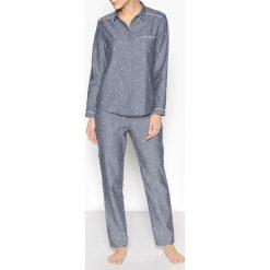 Piżama z koszulą. Niebieskie piżamy męskie La Redoute Collections, m, z bawełny. Za 126,38 zł.