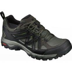 Buty trekkingowe męskie: Salomon Buty męskie Evasion 2 GTX Castor Gray/Black/Chive r. 45 1/3