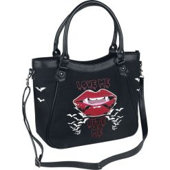 Torebki klasyczne damskie: Banned Bite Me Bag Torebka – Handbag czarny/biały