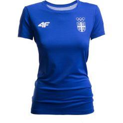 T-shirty damskie: Koszulka funkcyjna damska Serbia Pyeongchang 2018 TSDF700 – kobalt