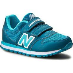 Sneakersy NEW BALANCE - KV500TLY Zielony. Niebieskie trampki chłopięce marki New Balance, z materiału, na rzepy. W wyprzedaży za 199,00 zł.
