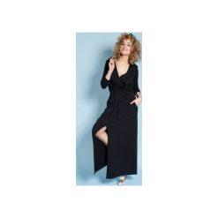 Sukienka Rachel Maxi - Czarna. Brązowe długie sukienki marki Mohito, l, z kopertowym dekoltem, kopertowe. Za 279,00 zł.