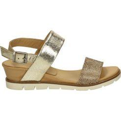 Rzymianki damskie: Sandały - L600 GOLD-ORO