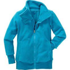 Bluzy dziewczęce rozpinane: Bluza z polaru bonprix ciemnoturkusowy