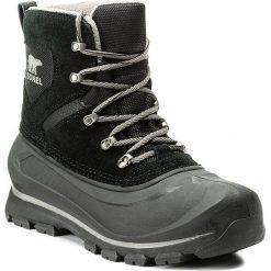 Śniegowce SOREL - Buxton Lace NM2737 Black/Quarry 010. Czarne glany męskie Sorel, z gumy. W wyprzedaży za 399,00 zł.