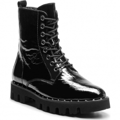 Trapery HÖGL - 6-102614 Black 0100. Czarne buty zimowe damskie marki HÖGL, z materiału. Za 819,00 zł.