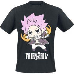 T-shirty męskie z nadrukiem: Fairy Tail Natsu Dragneel T-Shirt czarny