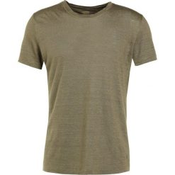 T-shirty męskie: 120% Lino UOMO GIROCOL Tshirt basic military green