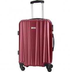 Walizka w kolorze bordowym - 36 l. Czerwone walizki Platinium, z materiału. W wyprzedaży za 179,95 zł.