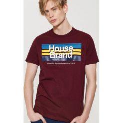 T-shirty męskie: T-shirt Bordowy