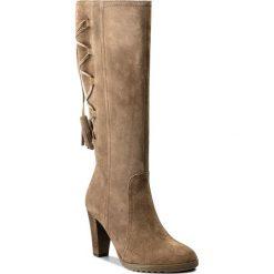Kozaki SERGIO BARDI - Carrara FW127255417AG 404. Brązowe buty zimowe damskie Sergio Bardi, ze skóry, na obcasie. W wyprzedaży za 289,00 zł.