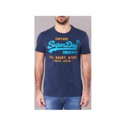 T-shirty z krótkim rękawem Superdry  SHIRT SHOP DUO LITE. Niebieskie t-shirty męskie Superdry, m. Za 104,30 zł.