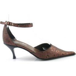 EFEKTOWNE Czółenka na Eleganckie OKAZJE. Szare buty ślubne damskie marki MARKO BUT. Za 18,00 zł.