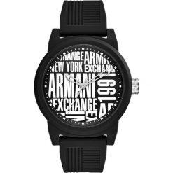 Armani Exchange - Zegarek AX1443. Czarne zegarki męskie marki Armani Exchange, l, z materiału, z kapturem. Za 599,90 zł.