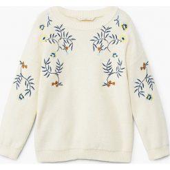 Mango Kids - Sweter dziecięcy Garden 110-164 cm. Szare swetry dziewczęce marki bonprix, m, melanż, z dzianiny, z kontrastowym kołnierzykiem. W wyprzedaży za 49,90 zł.