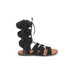 Sandały Minnetonka  MILOS. Czarne sandały damskie Minnetonka. Za 423,20 zł.