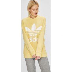 Adidas Originals - Bluza. Szare bluzy damskie adidas Originals, z nadrukiem, z bawełny, bez kaptura. W wyprzedaży za 249,90 zł.
