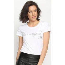 T-shirty damskie: Biały T-shirt Change