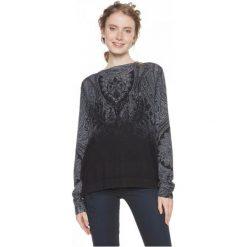 Desigual Sweter Damski Edimburgo Xl, Czarny. Brązowe swetry klasyczne damskie marki Desigual, w paski, z materiału. Za 399,00 zł.