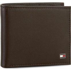 Duży Portfel Męski TOMMY HILFIGER - Eton Mini Cc Wallet AM0AM00655 041. Brązowe portfele męskie marki TOMMY HILFIGER, ze skóry. Za 229,00 zł.