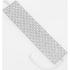 Bransoletki damskie: Szeroka bransoletka – Srebrny