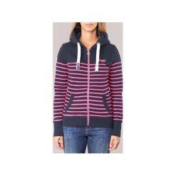 Bluzy Superdry  SUN   SEA ZIPHOOD. Szare bluzy damskie marki Superdry, l, z tkaniny, z okrągłym kołnierzem, na ramiączkach. Za 272,30 zł.
