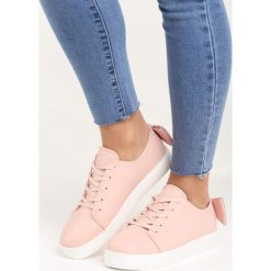 Różowe Buty Sportowe Sparkling Bowknot. Pomarańczowe buty sportowe damskie marki Born2be, z materiału. Za 69,99 zł.