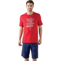 Bermudy męskie: Wzorzysta piżama letnia z krótkim rękawem.