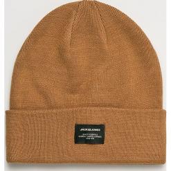 Jack & Jones - Czapka Beanie Noos. Brązowe czapki zimowe męskie Jack & Jones, z dzianiny. W wyprzedaży za 29,90 zł.