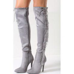 ea015a0308e5b Kozaki za kolano na szpilce - Kozaki damskie sznurowane - Kolekcja ...