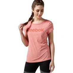 Reebok Koszulka damska Elements Logo czerwona r. M (AY2029). Szare topy sportowe damskie marki Reebok, l, z dzianiny, z okrągłym kołnierzem. Za 54,91 zł.