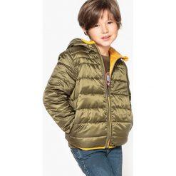 Odzież chłopięca: Dwustronna kurtka pikowana z kapturem 3-12 lat