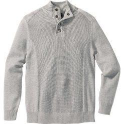 Sweter Regular Fit bonprix jasnooliwkowy. Zielone golfy męskie marki bonprix, l, z dzianiny, ze stójką. Za 99,99 zł.