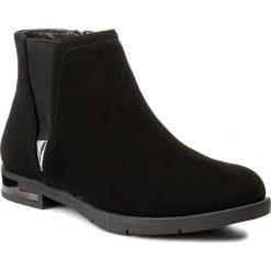 Botki JENNY FAIRY - LS4153-02 Czarny. Czarne buty zimowe damskie Jenny Fairy, z materiału, na obcasie. Za 119,99 zł.