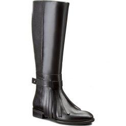 Oficerki GINO ROSSI - DKH149-S95-E1QZ-9999-F 99/99. Czarne buty zimowe damskie marki Gino Rossi, z materiału, na obcasie. W wyprzedaży za 449,00 zł.