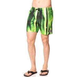 Szorty kąpielowe w kolorze zielono-czarnym. Zielone kąpielówki męskie marki Speedo, klasyczne. W wyprzedaży za 117,95 zł.