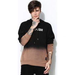 Czarna Bluza Ombre Transcendence. Czarne bluzy męskie rozpinane marki Born2be, l, z aplikacjami, z dresówki. Za 129,99 zł.
