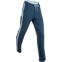 Spodnie dresowe, długie, Level 1 bonprix ciemnoniebieski melanż. Szare bryczesy damskie marki New Balance, xs, z dresówki. Za 89,99 zł.