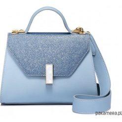 Torebki i plecaki damskie: NUCELLE Kuferek z brokatową klapką niebieski