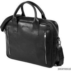 Torby na ramię męskie: Skórzana torba na laptop na ramię Brodrene R02