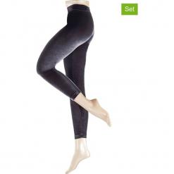 Legginsy (2 pary) w kolorze czarnym. Czarne legginsy marki Esprit, z materiału. W wyprzedaży za 208,95 zł.